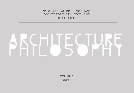 Cover for Volume One, Number One of ArchitecturePhilosophy