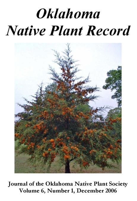 Cover photo: Gymnosporagnium juniperivirginianae (Cedar-apple rust) on Juniperus virginiana (Eastern red cedar) by L.B. Stabler