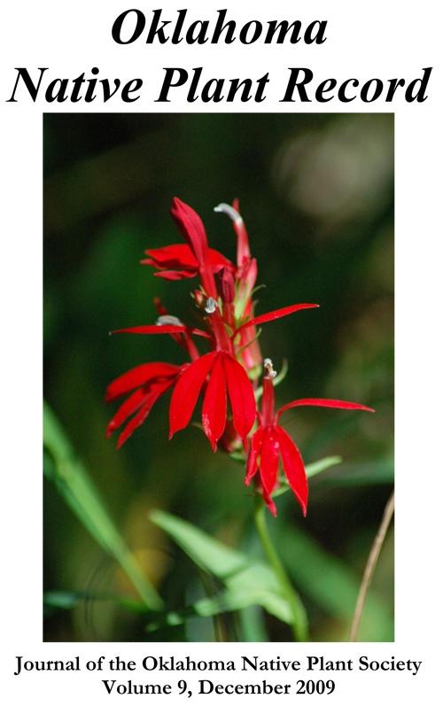 Cover photo: Lobelia cardinalis L. Cardinal flower, courtesy of Marion Homier, taken at Horseshoe Bend in Beaver's Bend State Park, September 2006.