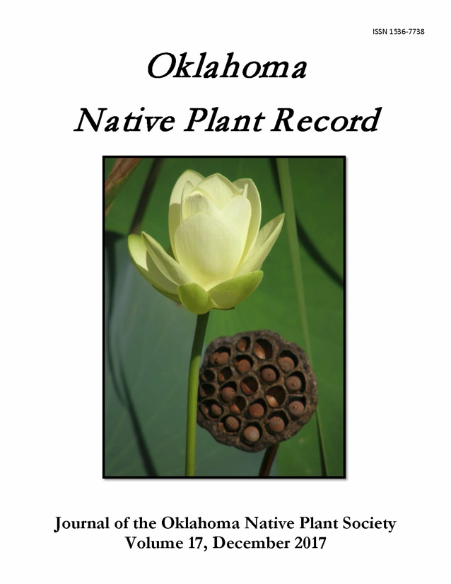 Cover photo: Nelumbo lutea Willd. (American lotus) by Sally Webb for the 2016 ONPS Photo Contest