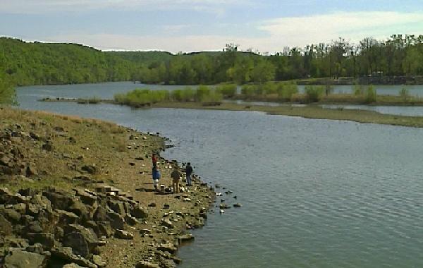 Fisherman South of Ft. Gibson Lake Dam