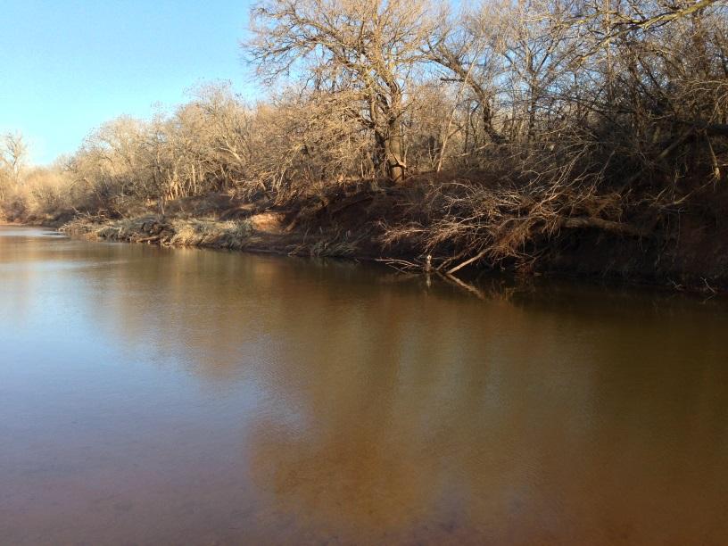 Arkansas River at SH74 just north of Salt Fork, Grant County, OK
